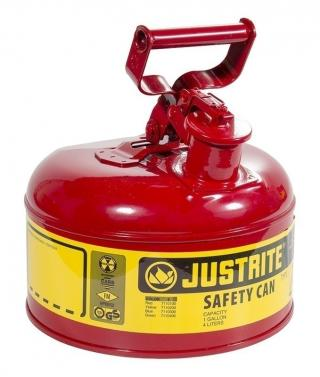 Justrite Type 1 Steel Safety Can - 1 Gallon