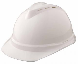 MSA V-Gard 500 White Vented Hard Hat