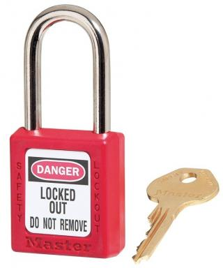 Master Lock Red Zenex Thermoplastic Safety Padlock