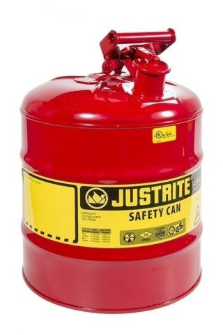 Justrite Type 1 Galvanized Steel Safety Can - 5 Gallon