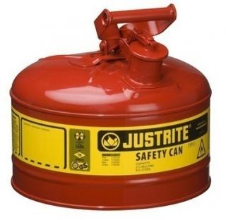 Justrite Type 1 Galvanized Steel Safety Can - 2.5 Gallon