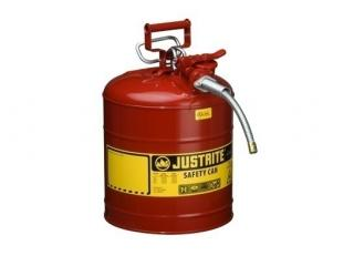 Justrite Type 2 AccuFlow Steel Safety Can 5/8 Inch Hose - 5 Gal
