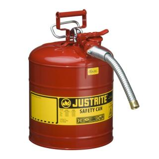 Justrite Type 2 Flammables AccuFlow Steel Safety Can - 5 Gallon Red