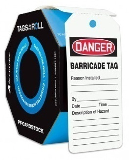 Accuform OSHA Danger Safety Barricade Tag Roll (250 Count)