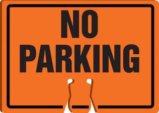 Accuform No Parking Cone Sign