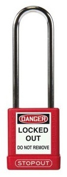 Accuform STOPOUT Aluminum Padlock with Hardened Steel Shackle