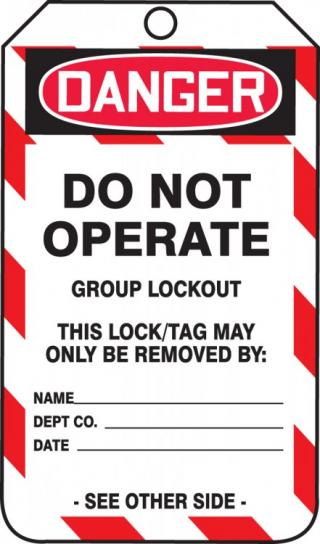 Accuform Group Lockout Job Tags