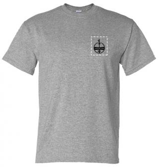 Custom Company Logo Heather Gray T-Shirt