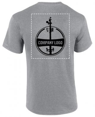 Custom Company Logo T-Shirt (Heather Gray)