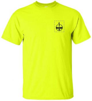 Custom Company Logo Hi-Vis Yellow T-Shirt
