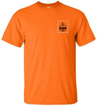 Custom Company Logo Hi-Vis Orange T-Shirt