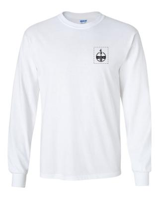 Custom Company Logo White Long Sleeve T-Shirt