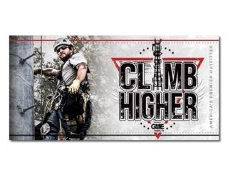 GME Supply Climb Higher Motivational Workplace Banner