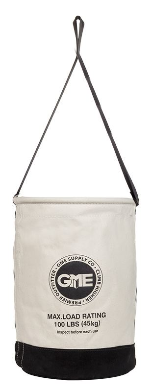GME Supply Leather Bottom Canvas Bucket