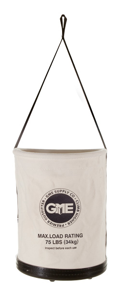 GME Supply Plastic Bottom Canvas Bucket