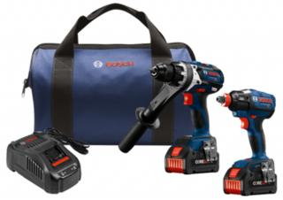 Bosch 18V 2-Tool Combo Kit with Brute Tough 1/2 Inch Hammer Drill and Two-In-One Bit/Socket Impact Driver