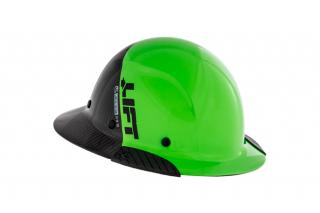 Lift Safety DAX Fifty 50 Green Carbon Fiber Full Brim Hard Hat (Columbia Safety and Supply Limited Edition)
