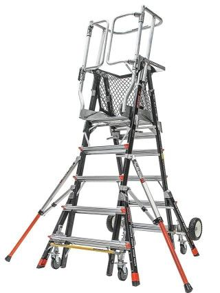 Little Giant Aerial Safety Cage Ladder