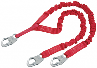Protecta Pro Stretch Shock Absorbing Lanyard with Snap Hooks