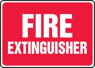 Accuform 'Fire Extinguisher' Sign