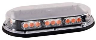 North American Signal Mini LED Light Bar with Upgraded Optics - Permanent Mount - Amber