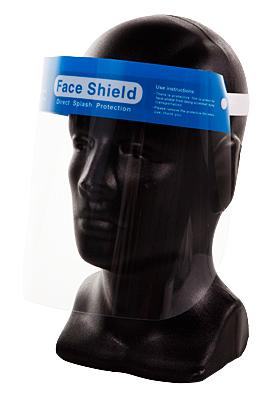 Clear Medical Full Face Protection Shield with Elastic Band