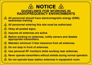 Accuform Notice Sign for Radio Frequency Environments