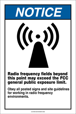 Accuform Radio frequency Fields Notice Sign - Notice Blue