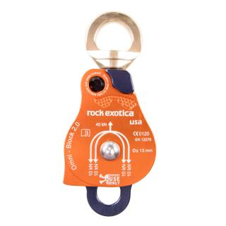 Rock Exotica P53D Omni-Block Double Swivel Pulley