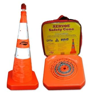 Aervoe 28 Inch Collapsible Traffic Safety Cone with LED
