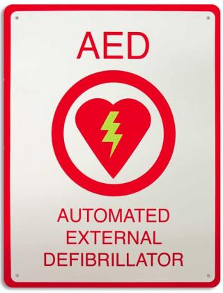 AED Plus Wall Sign