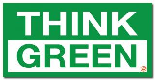Think Green' Motivational Workplace Banner