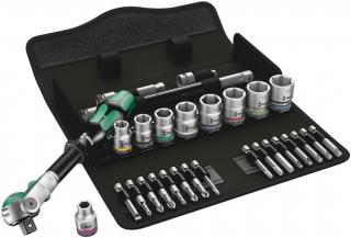 8100 SB 6 Zyklop Speed Ratchet Set, 3/8 Inch Drive, Metric, 29 Pieces