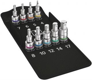 8740 C HF 1 Zyklop Bit Socket Set with 1/2 Inch Drive, with Holding Function