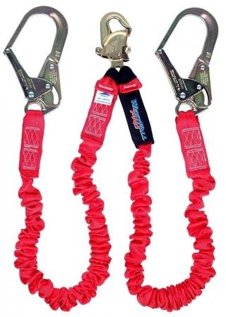 WestFall Pro 62010 Twin Leg Shock Absorbing Lanyard with Rebar Hooks