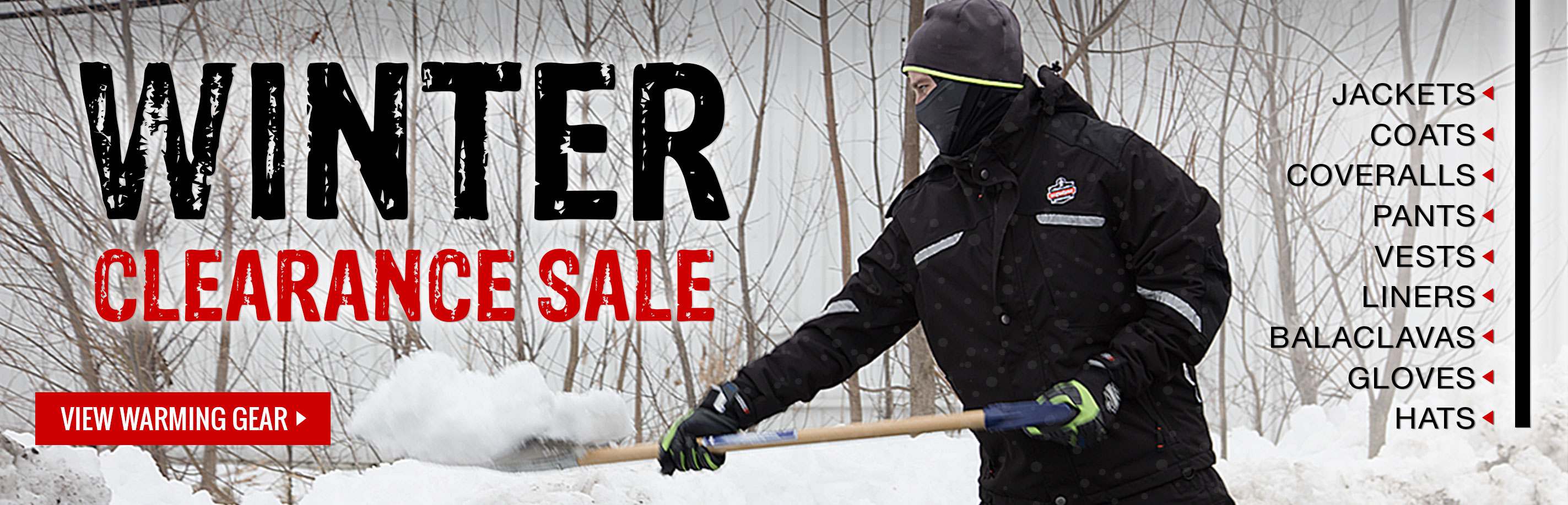 Winter gear clearance sale at GME Supply