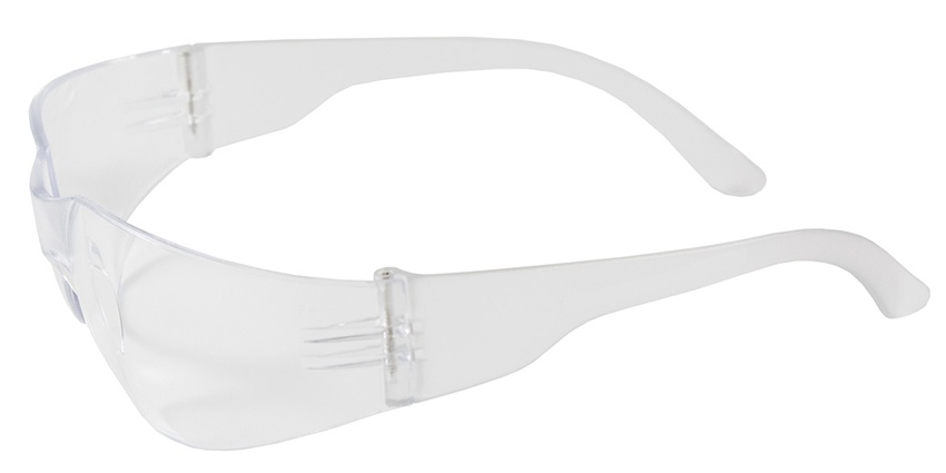 Bouton Zenon Z12 Safety Glasses with Clear Lens and Clear Temple from GME Supply
