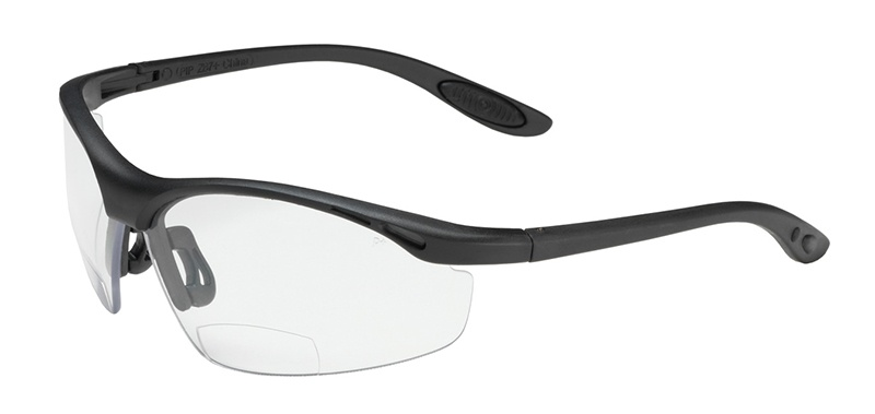 Bouton MAG Reader Safety Glasses with Clear Lens and Black Frame 250-25-0010 from GME Supply