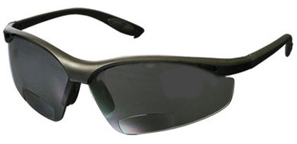 Bouton Mag Readers Safety Glasses with Gray Lens and Black Frame from GME Supply
