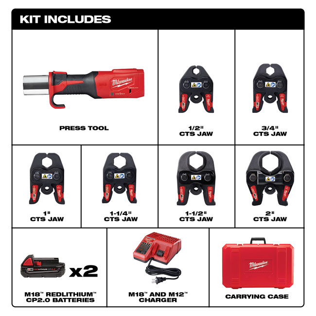 Milwaukee M18 FORCE Press Tool with ONE-KEY Milwaukee M18 FORCE Press Tool with ONE-KEY from GME Supply