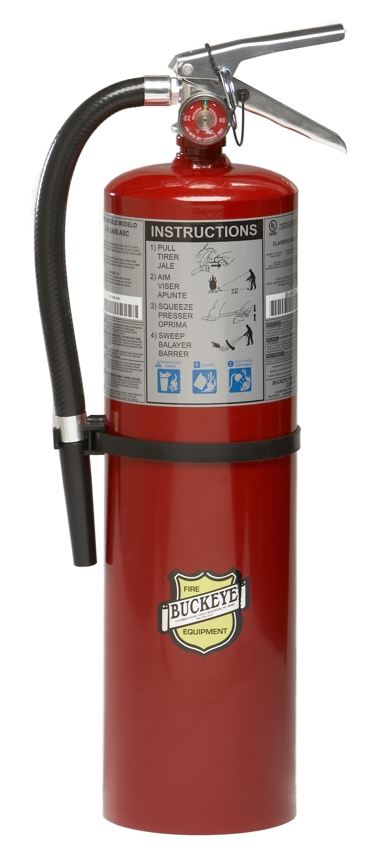 Buckeye ABC Fire Extinguisher 10 LB Tall from GME Supply